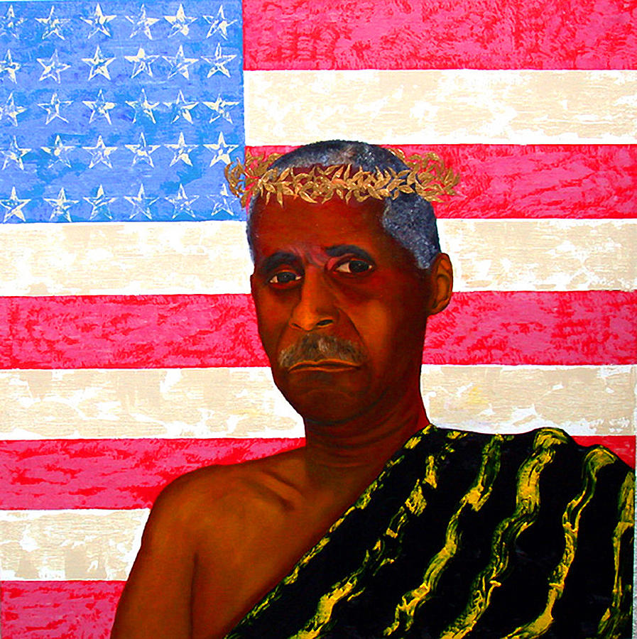 America Painting - Descending Your Throne You Became A Slave by Leon Nicholas Kalas