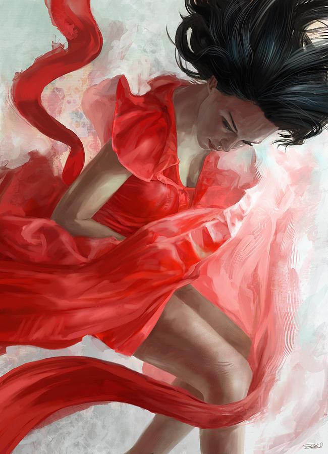Dancer Mixed Media - Descension by Steve Goad