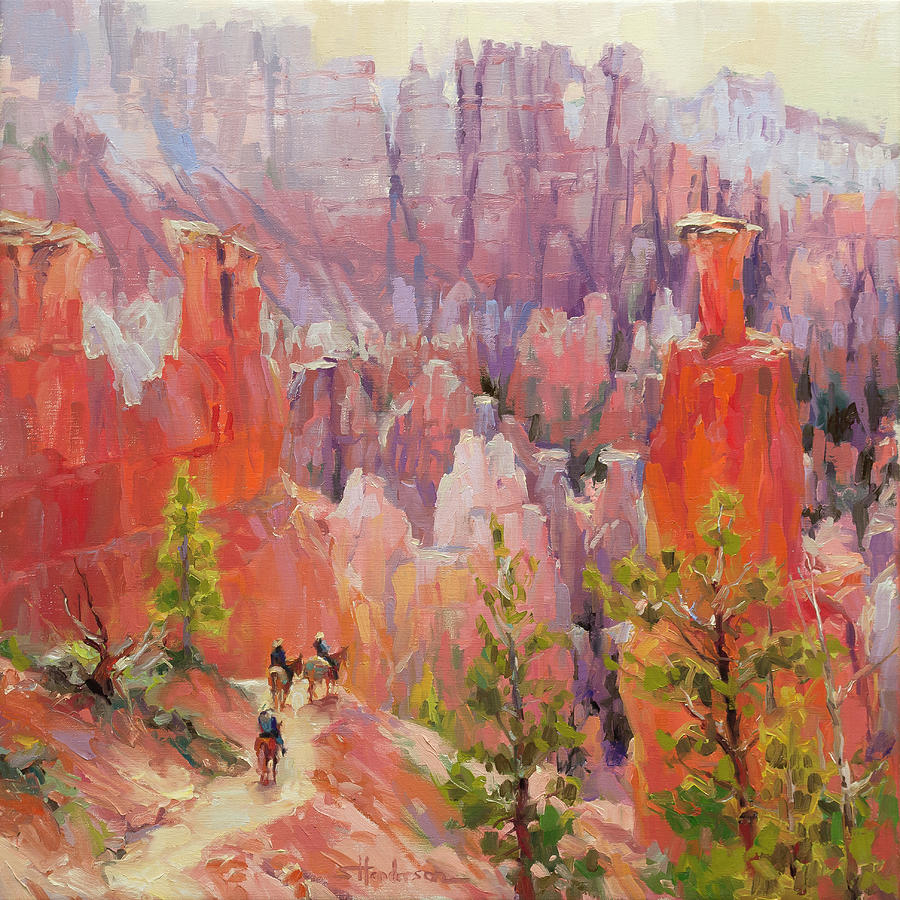 Southwest Painting - Descent into Bryce by Steve Henderson