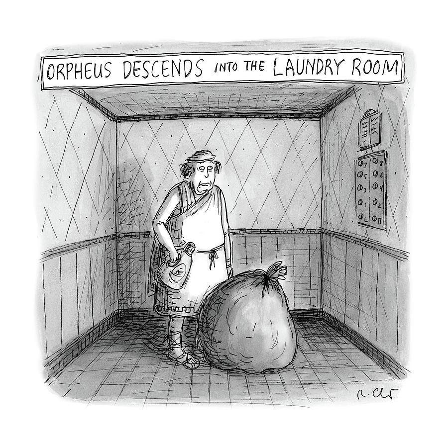 Descent Into The Laundry Room Drawing by Roz Chast