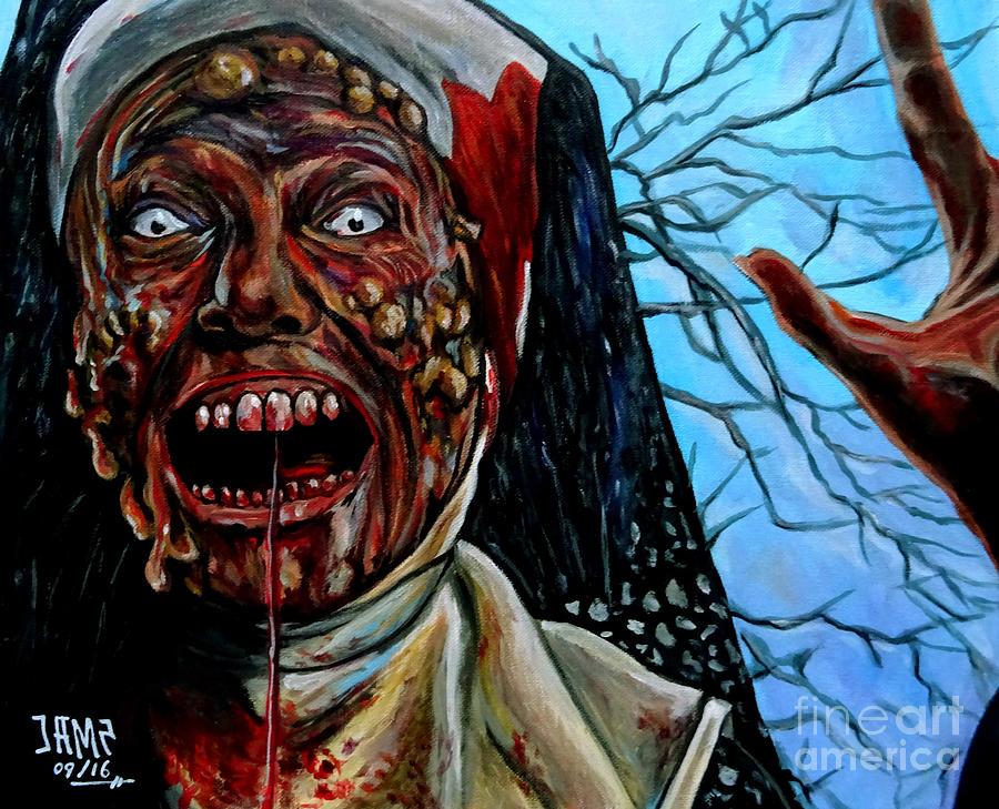 Desecration Painting - Desecration by Jose Mendez
