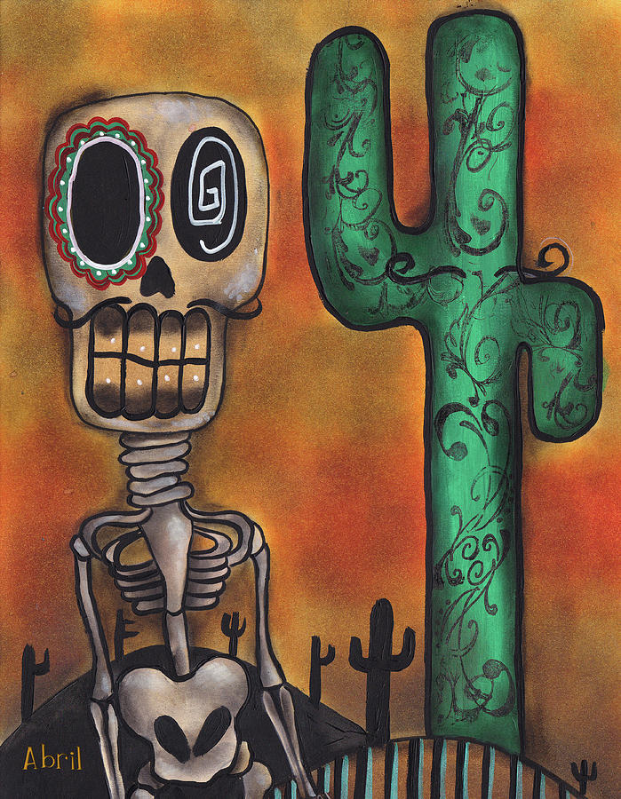 Day Of The Dead Painting - Desert by  Abril Andrade Griffith