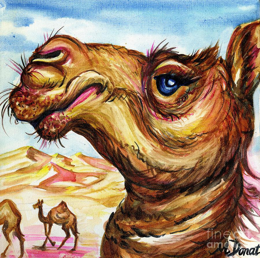Camel Painting - Desert Aristocrat by Margaret Donat