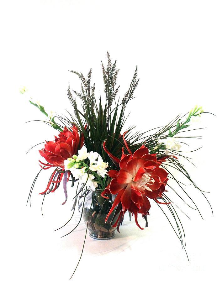Flowers In Vase Photograph - Desert Blooms by Fleursteppe