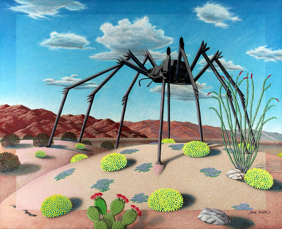 Desert Painting - Desert Bug by Snake Jagger