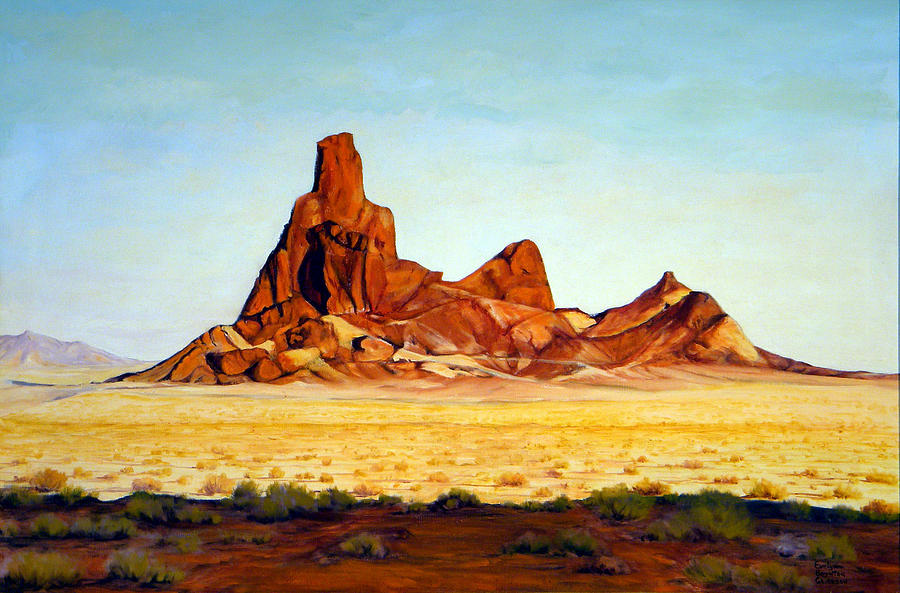 West Painting - Desert Buttes by Evelyne Boynton Grierson