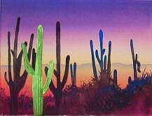 Desert Painting - Desert Cacti by Gail Ribas