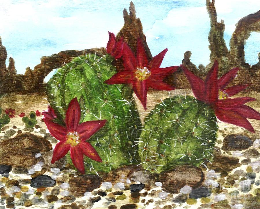 Desert Painting - Desert Cactus  by Heather  Marie