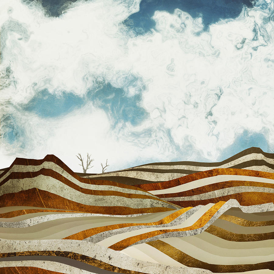 Desert Digital Art - Desert Calm by Spacefrog Designs