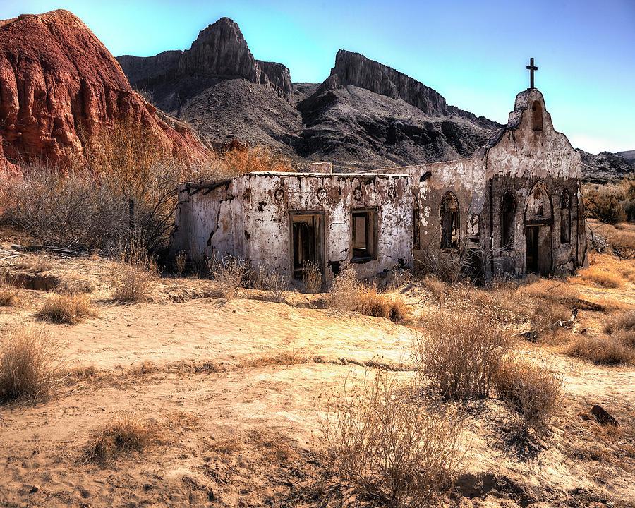 Church Photograph - Desert Church by Darrell Mcgahhey