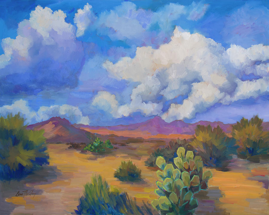Desert Clouds Passing by Diane McClary