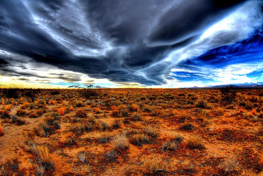 Desert Photograph - Desert Clouds by Tom Melo