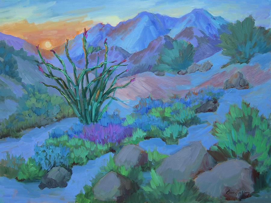 Desert Painting - Desert Dawn by Diane McClary