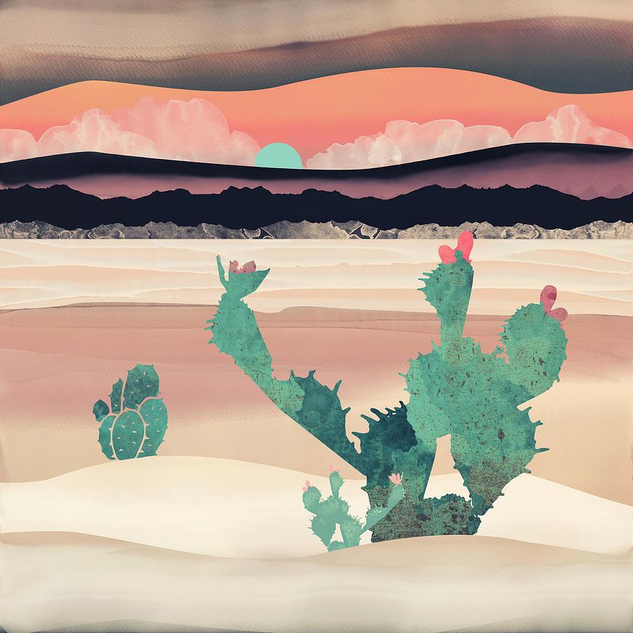 Desert Digital Art - Desert Dawn by Spacefrog Designs