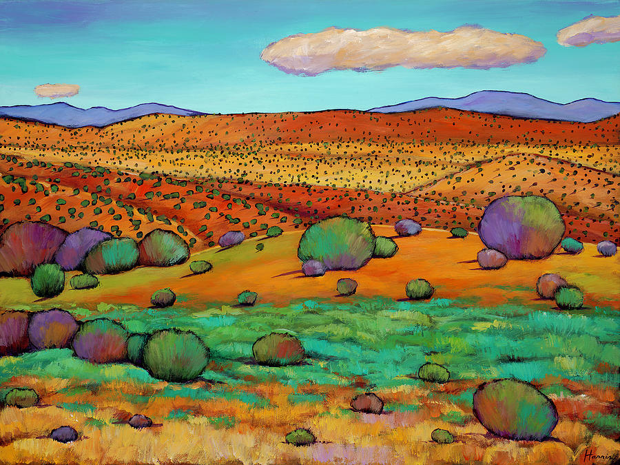 Landscape Painting - Desert Day by Johnathan Harris