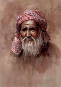 Portrait Painting - Desert Dweller by Tina Siddiqui