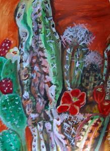 Desert Flower Painting - Desert Flower by Ruth Olivar Millan