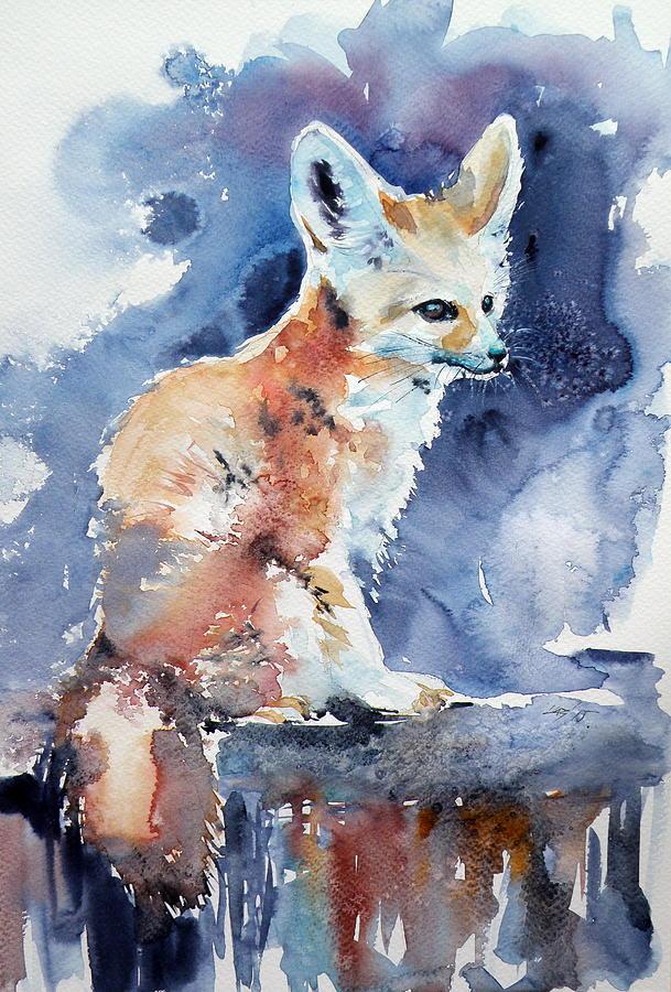 Desert Painting - Desert Fox by Kovacs Anna Brigitta