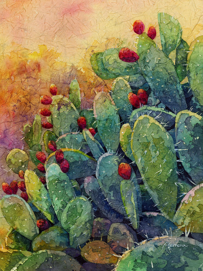 Cactus Painting - Desert Gems 2 by Hailey E Herrera