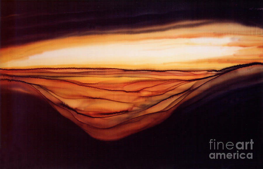 Painting Painting - Desert Glow by Addie Hocynec