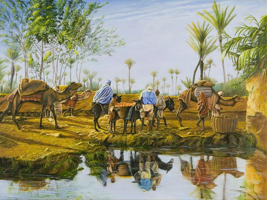 Desert Painting - Desert Gold by Christopher Oakley