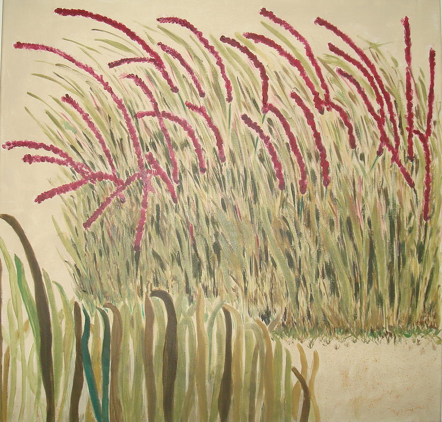 Desert Grasses Painting by Wendy Peat