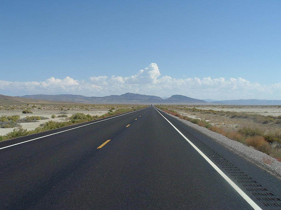 Biker Photograph - Desert Highway by JoAnn Tavani
