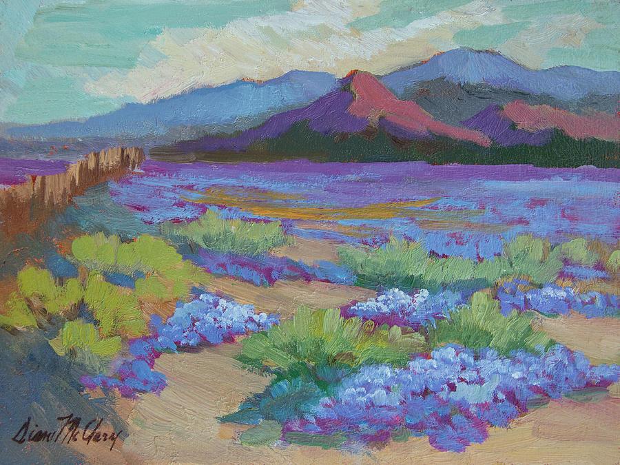 Desert Painting - Desert In Bloom by Diane McClary