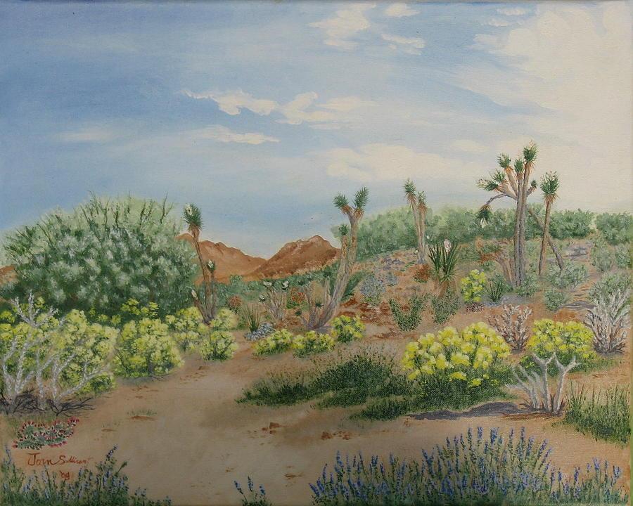 Landscape Painting - Desert In Bloom by Joan Taylor-Sullivant