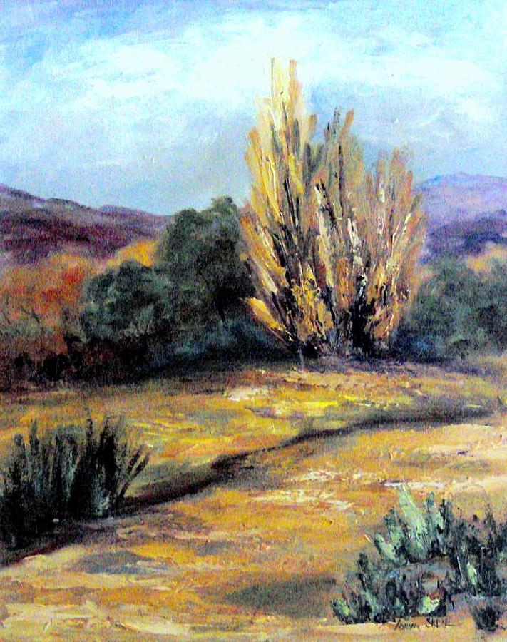 Landscape Painting - Desert in the Springtime by Lorna Skeie
