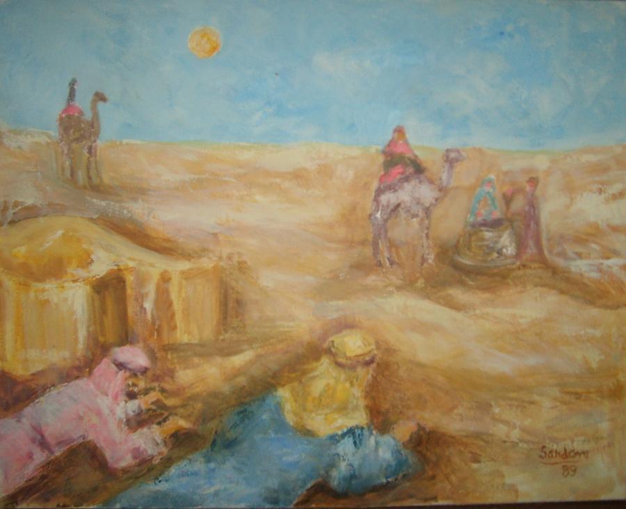 Desert Painting by Joseph Sandora Jr
