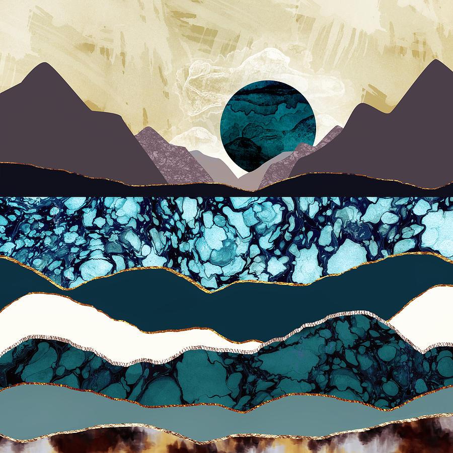 Desert Digital Art - Desert Lake by Katherine Smit