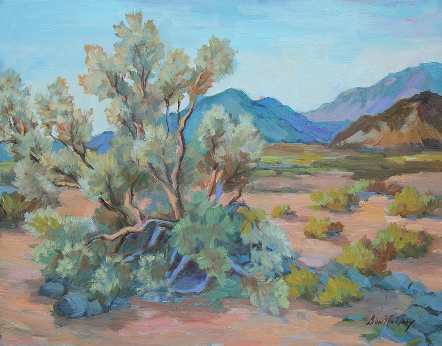 Smoke Tree Painting - Desert Light Smoke Tree by Diane McClary