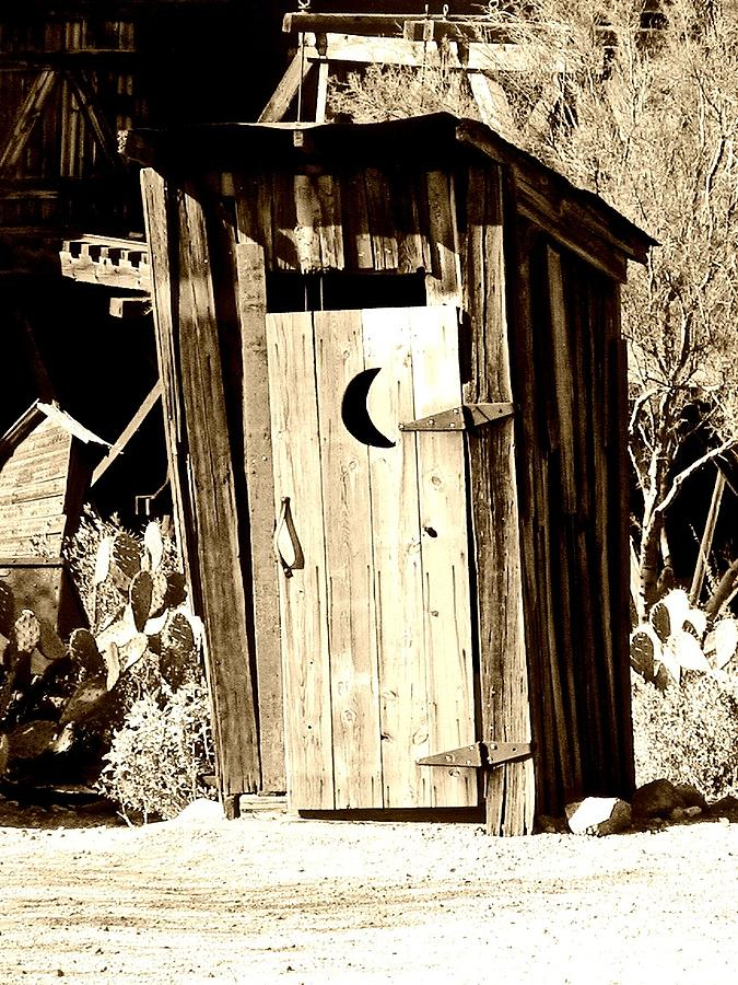 Outhouse Photograph - Desert Loo by Cathy Dunlap