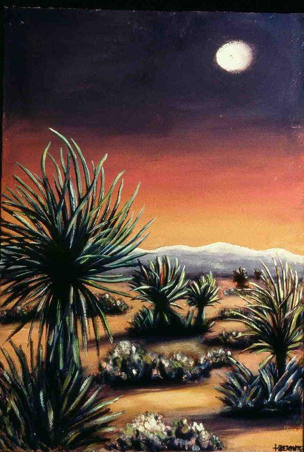 Desert Painting - Desert Moon by Helen O Hara