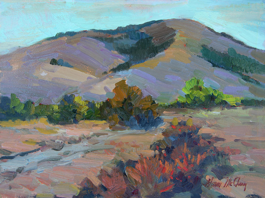 Desert Painting - Desert Mountains by Diane McClary
