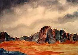 Desert Painting - Desert Mountains by Fred Jinkins
