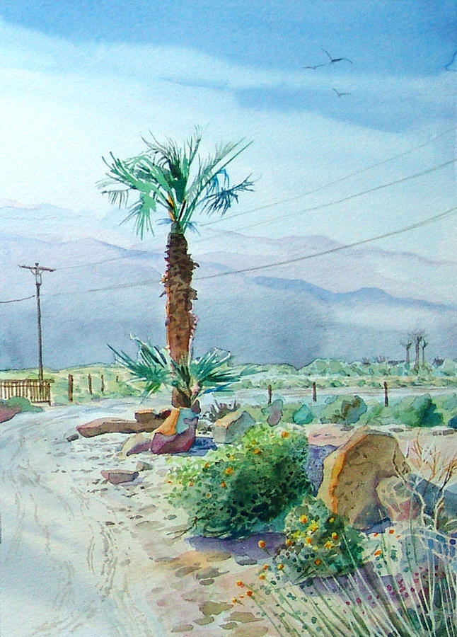 Watercolor Painting - Desert Palm by John Norman Stewart