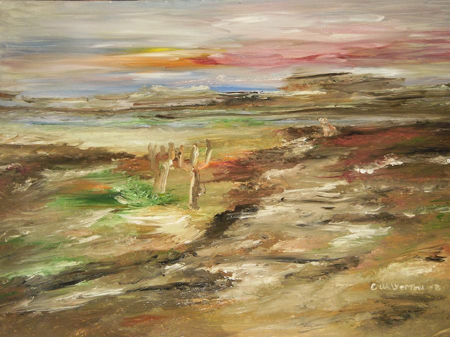 Landscape Painting - Desert Pass by Edward Wolverton