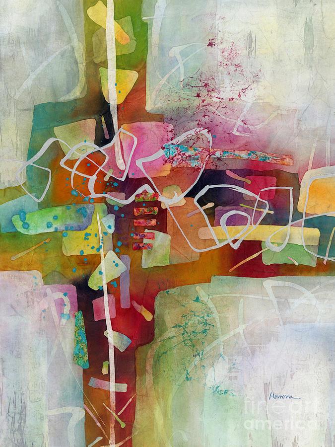 Abstract Painting - Desert Pueblo 2 by Hailey E Herrera
