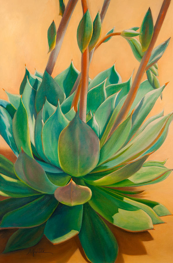 Succulent Painting - Desert Rainbow by Athena Mantle