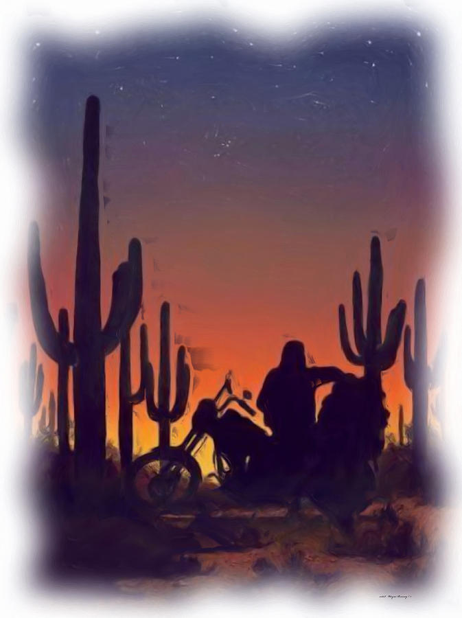 Desert Ride at Sunset by Wayne Bonney