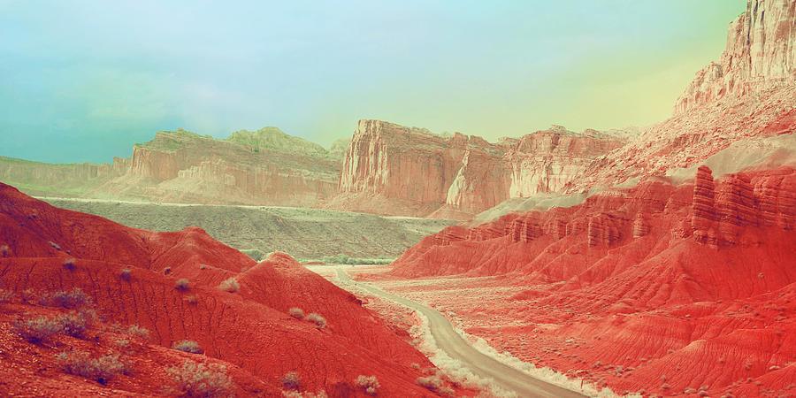 Desert Road by KaFra Art