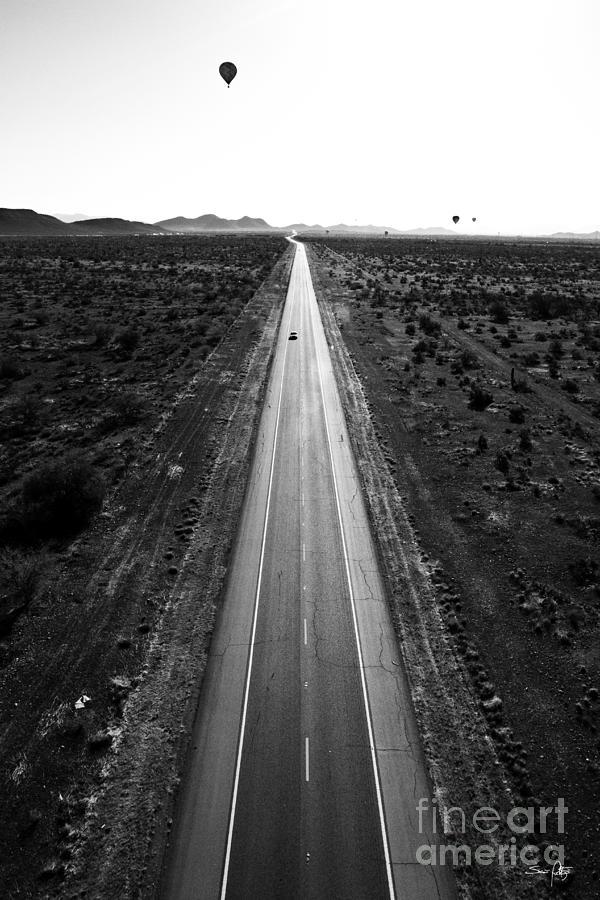 Black & White Photograph - Desert Road by Scott Pellegrin