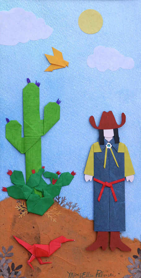 Southwest Mixed Media - Desert Roadrunner By Mary Ellen Palmeri by Lyric Artists