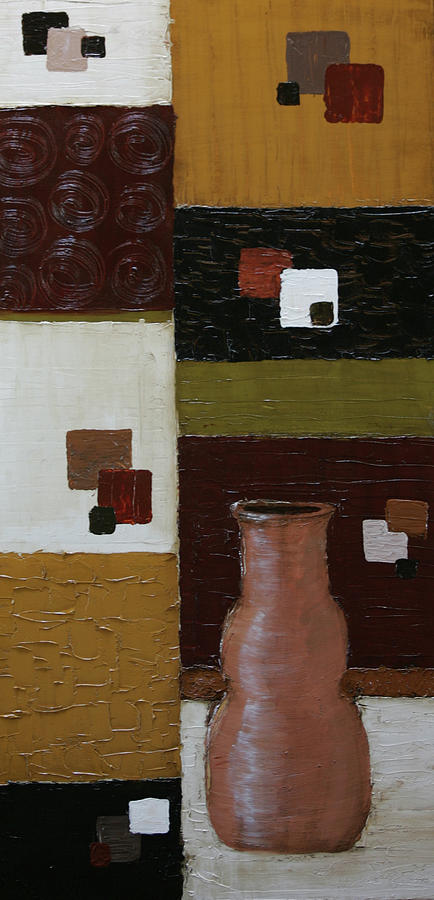 Squares Painting - Desert Sand by Robin Lee