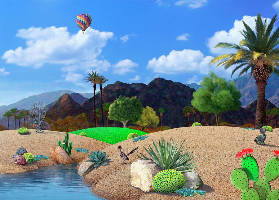Desert Digital Art - Desert Splendor by Snake Jagger
