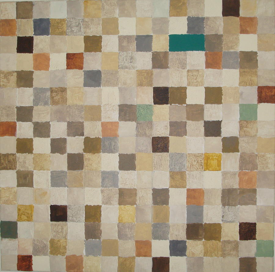 Desert Squares Painting by Wendy Peat