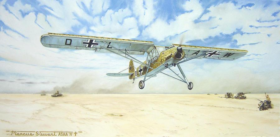 Wwii Painting - Desert Storch by Marc Stewart