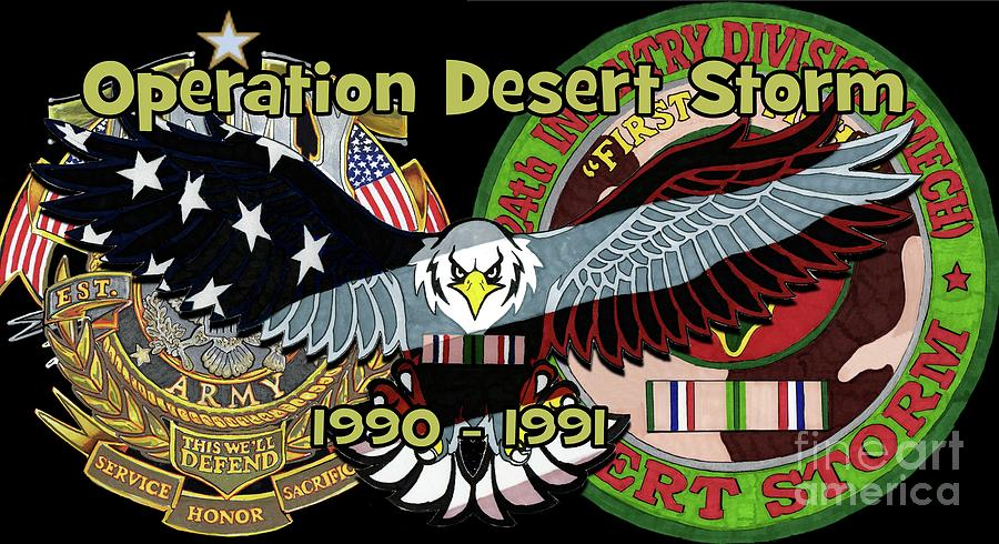 25 Drawing - Desert Storm by Bill Richards
